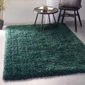 RRP £130 Wrapped Cozee Home Handmade Rug In Colour Vapor Blue