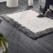 RRP £120 Bagged Cozee Home Aurora Shaggy Rug In Charcoal Design