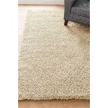 RRP £120 Bagged Cozee Home Aurua Shaggy Rug In Taupe Size 120X170 Cm