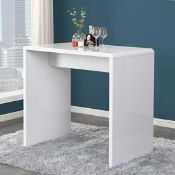RRP £280 Boxed Glacier Rectangular Bar Table In White High Gloss
