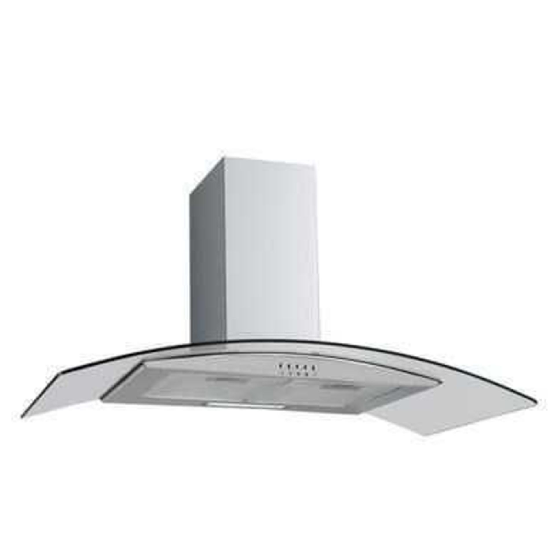 RRP £150 Boxed Culina 60Cm Curved Extractor Hood Stainless Steel
