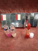 RRP £200 Lot To Contain 7 Brand New Boxed Testers Of Lancome Labsolu Rouge Ruby Cream Long Lasting