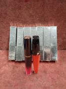 RRP £200 Lot To Contain 8 Brand New Boxed Testers Of Lancome Labsolu Velvet Matte Lip Gloss In Asso