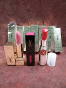 RRP £210 Lot To Contain 7 Brand New Boxed Testers Of Yves Saint Laurent Volupte Tint In Balm Lipsti