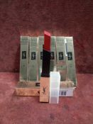 RRP £210 Lot To Contain 7 Brand New Boxed Testers Of Yves Saint Laurent Rouge Pur Couture The Slim