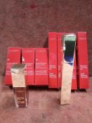 RRP £160 Lot To Contain 4 Brand New Boxed Testers Of Clarins Mascara Gold Top Coat Ex-Display And 3