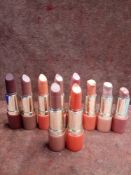 RRP £220 Lot To Contain 10 Testers Of Clarins Joli Rouge Lipsticks In Assorted Shades Ex-Display (