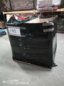 Combined RRP £550 Pallet To Contain Lawn Mower, Shatterproof Tumblers, Floral Bag, Lampshades, Misce