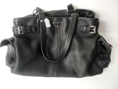 RRP £1700 Prada Black Leather Shoulder Bag Grade A (Aano923) (Appraisals Available On Request) (