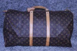 RRP £1,500 Louis Vuitton Keepall 55 Travel Bag, Brown Monogram Coated Canvas, 55x28x25cm (Production