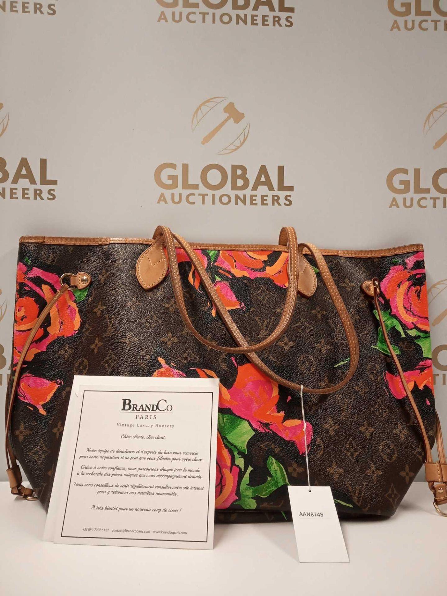 RRP £3000 Louis Vuitton Limited Edition Monogram Roses Shoulder Bag Aan8745, Grade Ab (Appraisals - Image 3 of 4