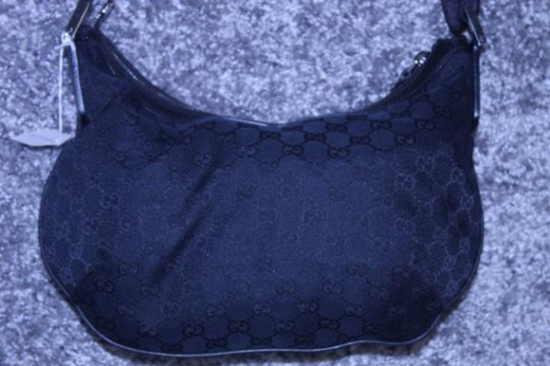 RRP £1,080 Gucci Messenger Shoulder Bag, Black Mongrame Canvas, 32X24X2Cm (Production Code 181092- - Image 2 of 2