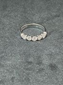 RRP £2250 14ct White Gold Brilliant Cut Diamond 5 Stone Ring (Appraisals Available On Request) (