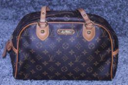 RRP £1,650 Louis Vuitton Montorgueil Handbag, Brown Monogram Coated Canvas, 30x20x13cm, Condition
