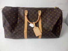 RRP £1400 Louis Vuitton Keepall Travel Bag Monogram Canvas Bag (Appraisals Available On Request) (