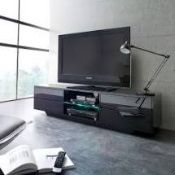 RRP £300 Boxed Sianna Tv Stand In Black High Gloss With Multi Led Lighting
