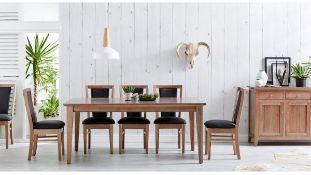 RRP £800 Boxed Dark Claremount Dining Table