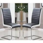 RRP £130 Boxed Symphony White And Black Side Chair