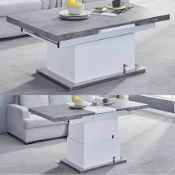 RRP £600 Boxed Elgin Extending High Gloss Coffee Table
