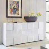 RRP £400 Boxed Aspen Modern Sideboard In High Gloss White