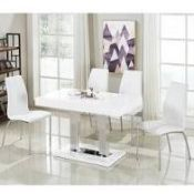 RRP £430 Boxed Coco Dining Table In White Gloss