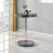 RRP £220 Boxed Havannah Grey High Gloss Bar Table