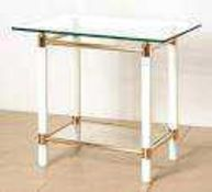 RRP £90 Boxed Designer Glass Top Coffee Table