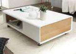 Rrp £300 Boxed Corin Couchtisch Coffee Table In White