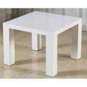 RRP £70 Boxed Designer Wooden Square Coffee Table