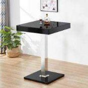 RRP £320 Boxed Topaz Black Top Bar Table