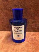 (Jb) RRP £125 Unboxed 150Ml Tester Bottle Of Acqua Di Parma Blu Mediterraneo Arancia Di Capri Eau De