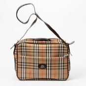 RRP £890 Burberry Large 3 Burberrys Zip Travel Bag in Beige and Brown - AAP8363 - Grade A Please