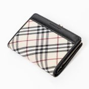 RRP £890 Burberry French Purse Wallet in Beige/Black - AAN3487 Grade A Please Contact Us Directly