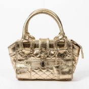 RRP £890 Burberry Prorsum Knight Medium Shoulder Bag in Metallic Gold - AAP4585 - Grade A Please