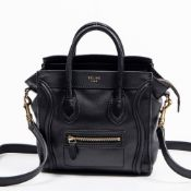 RRP £2500 Celine Nano Luggage Shoulder Bag in Black - AAQ0930 - Grade A Please Contact Us Directly