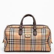 RRP £890 Burberry Vintage Boston Bag Brown and Beige - AAQ3222 - Grade A Please Contact Us
