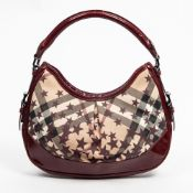 RRP £890 Burberry Hernville Small Hobo Bag in Burgundy - AAQ5527 Grade AB Please Contact Us Directly