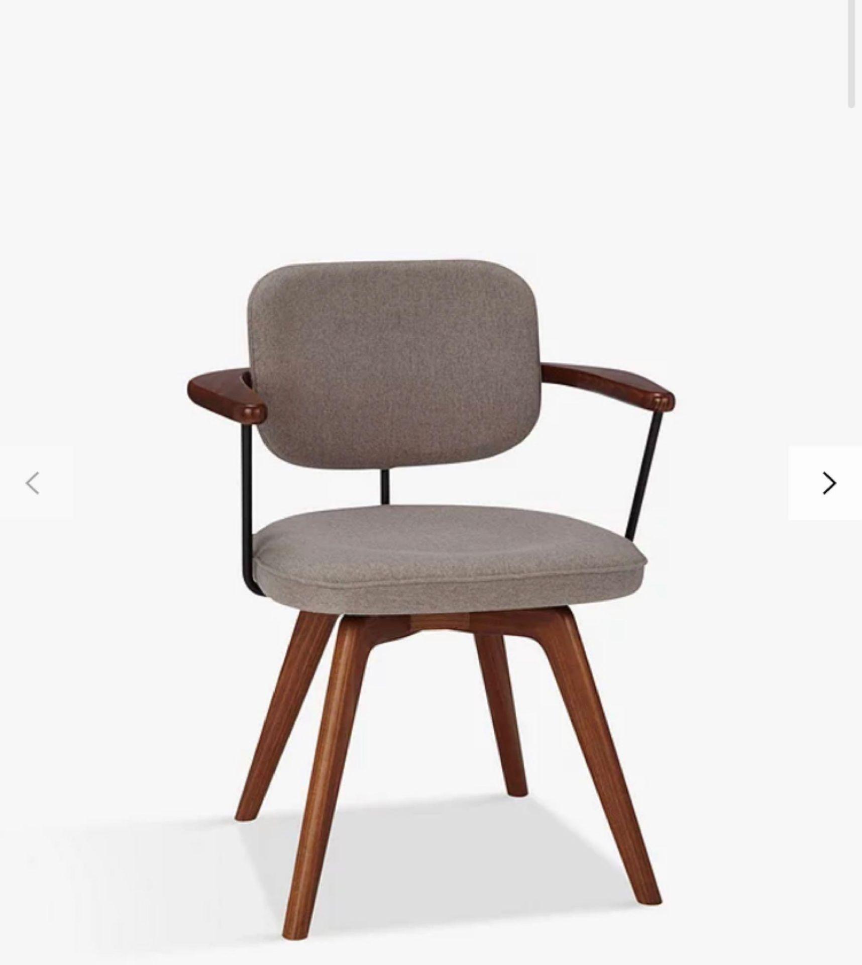 RRP £480 Unboxed John Lewis Soren Office Chair In Grey/Teak Wood
