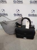 RRP £140 Combined Lot To Contain 1X Grey Fiorello Black Shoulder Bag, 1X Grey Fiorello Bag
