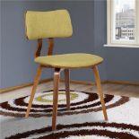 RRP £120 Boxed Armen Living Green/Natural Jaguar Side Chair