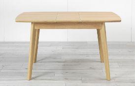 RRP £280 Boxed Block Extendable Dining Table White/Oak