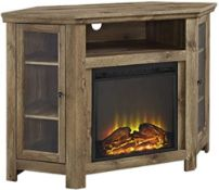 """RRP £380 Boxed 48"""" Bar Wood Corner Fireplace Tv Stand"""