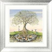 RRP £125 Rise And Shine By Artist Catherine Stephenson Silver Framed Wall Art Picture