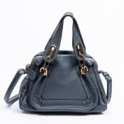 RRP £1690 Chloe Paraty Cade Blue Shoulder Bag AAQ7059 Grade A (Please Contact Us Direct For