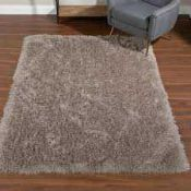 RRP £150 Lot To Contain Bagged Cozee Home Aurora Shaggy Rug In Taupe