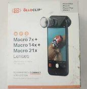 RRP £160 Combined Lot To Contain X4 Boxed Olloclip Macro Lenses For Iphone