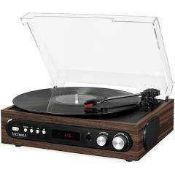 RRP £90 Lot To Contain Boxed Victrola 3 In 1 Turntable Bluetooth/Fm Radio