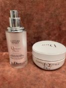 (Jb) RRP £165 Lot To 1 Tester Of 30Ml Dior Capture Totale Dreamskin Advanced Global Age Defying Skin