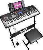 RRP £120 Boxed Rockjam Electronic Keyboard
