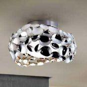 RRP £230 Boxed Schuller Narisa Plafon Chrome Finish Designer Ceiling Light Fitting